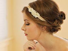 Wedding Hairband / Bridal Hair Accessory / Pearl by DavieandChiyo, $36.00