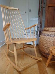Ilmari Tapiovaara 1950's Retro rocking chair, Finnish design / Ercol style | eBay