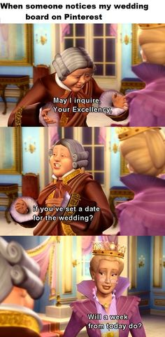 Barbie Princess and the Pauper - Wedding board on Pinterest