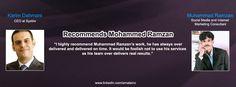 Karim Dahmani CEO at Systrix Recommends Muhammad Ramzan Social Media & Internet Marketing Consultant.