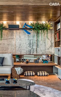 Concrete is perfect interior trend Room Interior Design, Interior Decorating, Exterior Design, Interior And Exterior, Lofts, Sweet Home, Ideal Home, Contemporary Interior, Home Living Room
