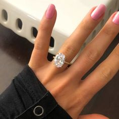 The most gorgeous ring! 4 Carat Oval Cut Solitaire Ring (Gold & Silver) – Starlette Galleria #simulateddiamond #ovalcut #engagementrings Gold Engagement Rings, Diamond Wedding Rings, Lab Created Diamond Rings, Diamond Dreams, Simulated Diamond Rings, Delicate Rings, Solitaire Ring, Beautiful Rings, Gold Rings