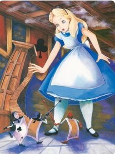 Franc Mateu and Holly Hannon | ILLUSTRATION for Teddy Slater's 1995 Illustrated Classic adaptation of Walt Disney's Alice in Wonderland