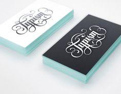Typism Business Cards designed by Aurelie Maron. Business Card Design, Creative Business, Business Cards, Logo Branding, Branding Design, Logo Design, Event Logo, Calligraphy Letters, Graphic Design Illustration