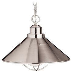 Kichler Nautical Pendant Light in Brushed Nickel Finish