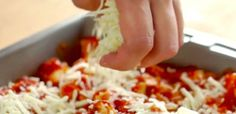 Another great weeknight recipe! Only one baking pan needed, plus a pot to cook spaghetti in, if you want to serve it on top of pasta. Easy Chicken Parmesan Bake, Parmasean Chicken, Chicken Panko, Cooked Chicken, Pasta Dishes, Food Dishes, Main Dishes, Great Recipes, Favorite Recipes