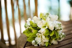 Green and White Orchid Wedding Flowers - The Wedding SpecialistsThe Wedding Specialists