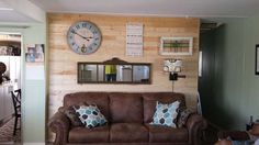 complete mobile home transformation - installing shiplap on mobile home walls - final