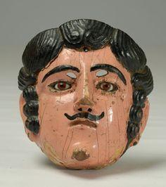 Antique Guatemalan Vaquero (Cowboy) Mask - Circa 1930