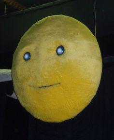 Luna con occhi e bocca semoventi per Pinocchio ISV - diametro cm.120