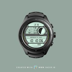 """G7 UTC Digital MP Watchface , The visual functionality of the watch face works for both round and square formats. Available feature : moon phases, moon age, week in year, day in year, watch battery Level, step count, current condition , current humidity & theme custom colour... light color recommended. For more details or testing feel free """"Inspector Mode"""" Available :)"""