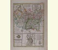 A New and Accurate Map of the South West  part of Germany/ 1752