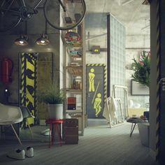 estupendos diseños de interiores industriales