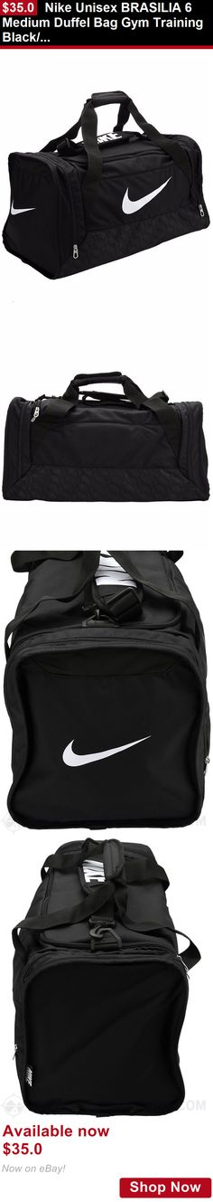 Unisex accessories: Nike Unisex Brasilia 6 Medium Duffel Bag Gym Training Black/White New BUY IT NOW ONLY: $35.0