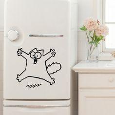 Sticker pour frigo, chat