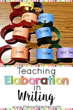 Teaching Elaboration in Writing