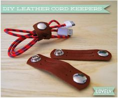 DIY Leather Cord Keepers