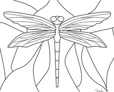 Dragon Fly to color ~ Coloring Page