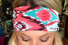 #Aztec #pink #teal #headband #workwear #workoutwear #workout #outside #beautiful #country #southern #katiescountrycorner #rustic