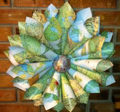 ❤️Vintage Atlas Wreath❤️