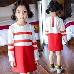 $16.99 (Buy here: https://alitems.com/g/1e8d114494ebda23ff8b16525dc3e8/?i=5&ulp=https%3A%2F%2Fwww.aliexpress.com%2Fitem%2FGirls-Red-White-Striped-Dress-Autumn-2016-Casual-Little-Girls-Dresses-Long-Sleeve-Cotton-Dress-Children%2F32711623098.html ) Girls Red White Striped Dress Autumn 2016 Casual Little Girls Dresses Long Sleeve Cotton Dress Children Clothing Kids Girl Dress for just $16.99