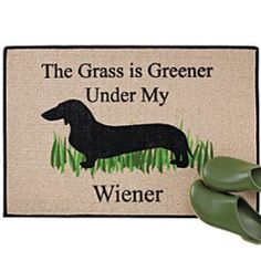 LOVE THIS!! I want it so bad!!!  Grass is Greener Doormat  $19.95