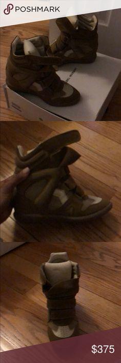 Isabel Marant Sneaker Wedges Beige Isabel Marant Sneaker Wedges Isabel Marant Shoes Sneakers