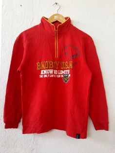 Vintage 90s BAD BOY Club Sweatshirt with Big Spell Out Embroidered Sweater Jumper Pullover Swag Hip Hop Small Size 160 VSS523 by fiestorevintage on Etsy