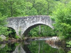 Arched stone bridge at Dundonnell
