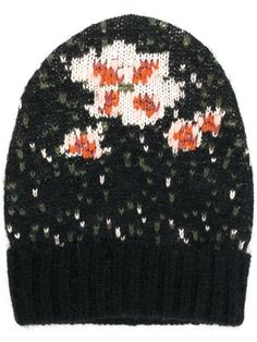 8ed5e29ffcd Shop Twin-Set floral beanie Knitted Hats
