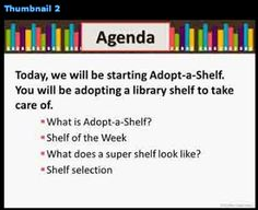 The Centered School Library- links to Mrs. Lodge's adopt a shelf program on TPT and other good sources from other creators