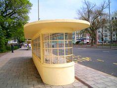 Art Deco tram shelters, Old Steine, Brighton