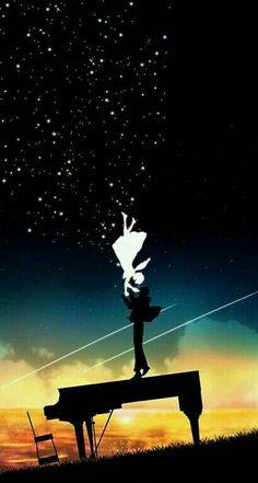 Illustrations by Harada Miyuki: 3 Anime Galaxy, Japon Illustration, Your Lie In April, Hayao Miyazaki, Anime Scenery, Pretty Art, Anime Love, Manga Art, Anime Couples
