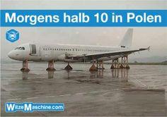 Morgens halb 10 in Polen am Flughafen - Polenwitze