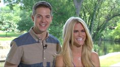Such awesome people. Jason Kennedy and Lauren Scruggs on engagement announcement.