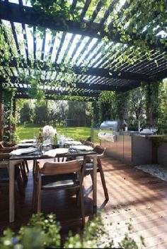 Awesome Yard and Outdoor Kitchen Design Ideas 22 Pergola Swing, Pergola Shade, Pergola Patio, Pergola Plans, Pergola Ideas, Patio Ideas, Backyard Ideas, Garden Ideas, Garden Types