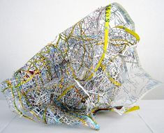 'plan berlin', cut out map by cannelle tanc, 2006 Illustrations, Illustration Art, Map Projects, A Level Art, Map Design, Collage, Conceptual Art, Art Plastique, Magazine Design
