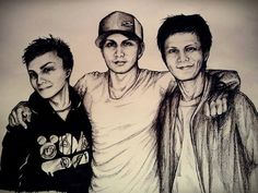 #art #myart #artist #drawing #people #men #boy #brothers #family #firends #smile #happy #portrait