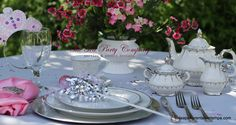 this theme  would work perfectly for not only a princess tea party, but for a garden bridal shower as well !!!