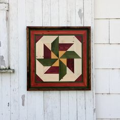 Pallet Wood Mosaic Barn Quilt Handmade Primitive Rustic Country Decor by GoodRiddanceFarm on Etsy