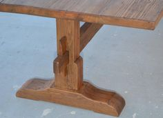 Custom Trestle Table in Reclaimed Vintage Pine, Fully Collapsible! 9