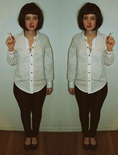 Mia wallace. (by Stacey Belko) My friend did this once http://lookbook.nu/look/2635757-mia-wallace