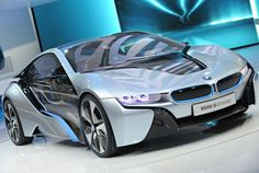 BMW i8 Concept; if I could have ANY car this would be it! Customized in pink && black