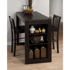 Jofran Maryland Merlot 3 Piece Counter Height Storage Dining Table