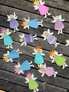Free crochet pattern - angels and flower fairies