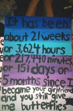 13 Best 1 month anniversary images   Diy gifts, 1 month anniversary, Boyfriend gifts