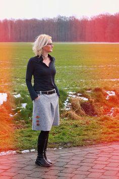 Damenröcke sind nicht nur was für die warmen Tage. Nein, auch im Herbst und Winter kann es sehr elegant und edel sein mit unseren Schnittmustern.
