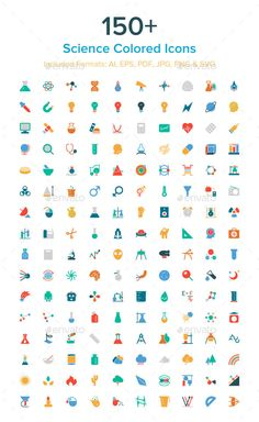 150+ Science Colored Icons #design Download: http://graphicriver.net/item/150-science-colored-icons/10485621?ref=ksioks
