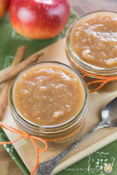 Combine the ingredients and come back 4 hours later for this amazing slow cooker applesauce | Cooking on the Front Burner