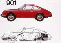 Uno dei primi poster dedicati alla 911: 1963, Type 901